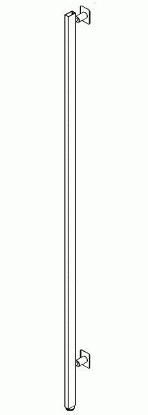 elementi per cabina armadio 012 ar250ch montante con piedini e distanziali h cm 250