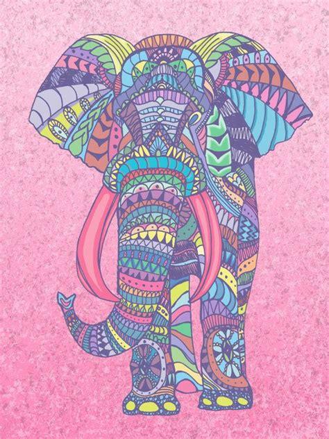 Tribal Print Elephant   animals   Pinterest   Drawings ...