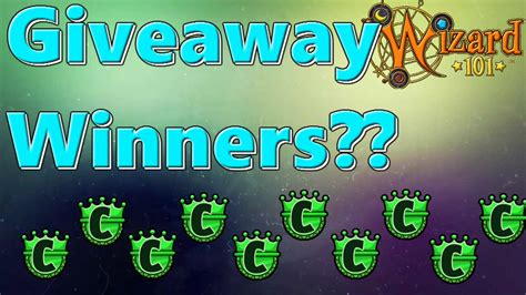 Wizard101 Giveaway - wizard101 giveaway winners youtube