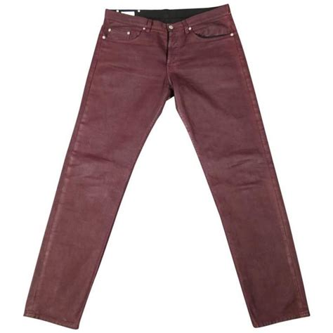 dries noten s burgundy coated size 32 at 1stdibs