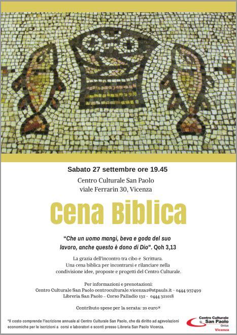 libreria san paolo vicenza 27 settembre cena biblica societ 224 san paolo vicenza