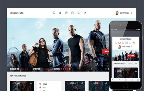 theme exles of movies movie store a entertainment category flat bootstrap