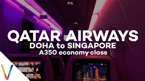 qatar airways   economy class review doha  singapore qr youtube