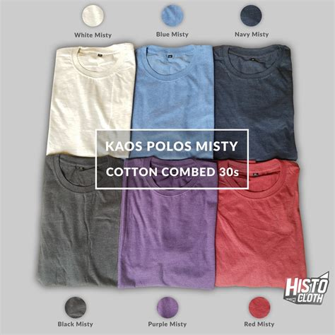 Kaos Polos Pendek Premium baju kaos polos premium warna cotton combed 30s