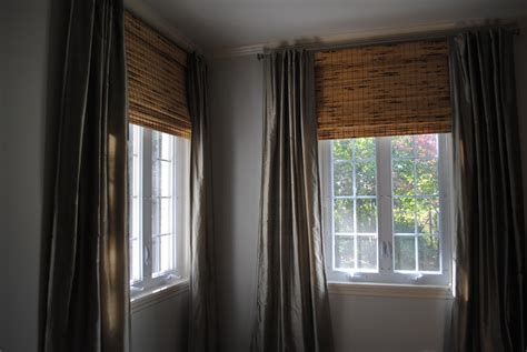 bamboo blinds with curtains a perfect gray nate berkus and bamboo blinds
