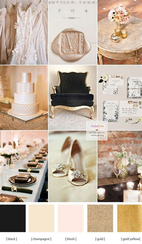 Champagne and black wedding theme for a luxurious wedding