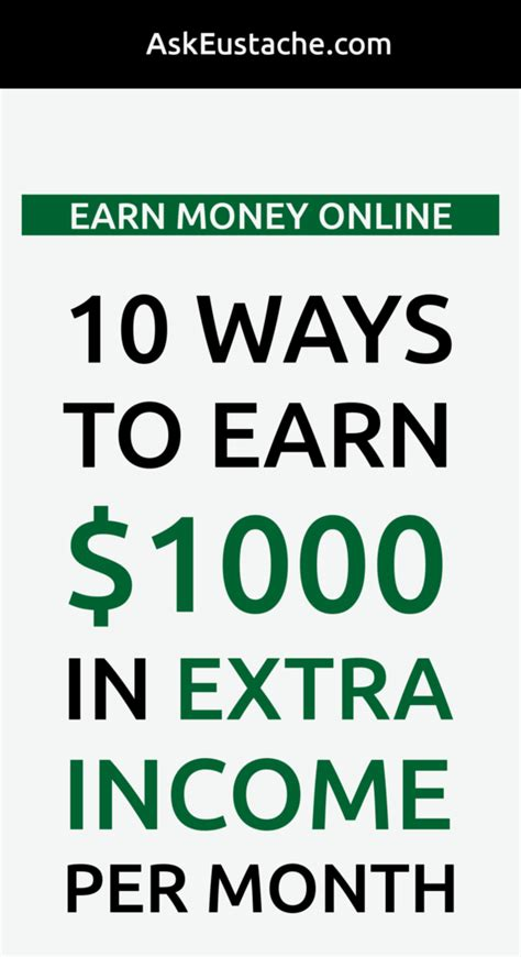 Make Money Online Cash - earn money online 10 ways to earn 1000 in extra income from home