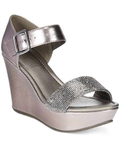 kenneth cole reaction wedge sandals lyst kenneth cole reaction s sole less 2 platform