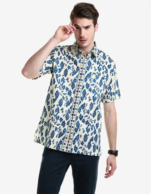 Hem Batik Wayang Pandawa Tosca Batik Cabut Warna jual kemeja batik pria mataharimall