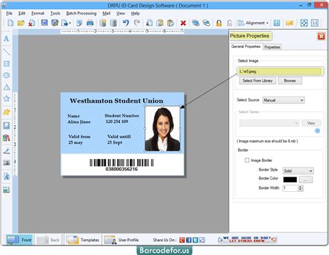 id design maker id card maker software designs identity cards barcodefor us