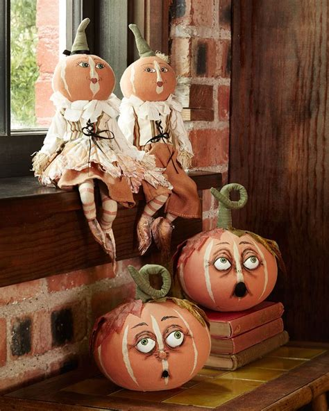 gathered traditions by joe spencer pumpkin patch figures