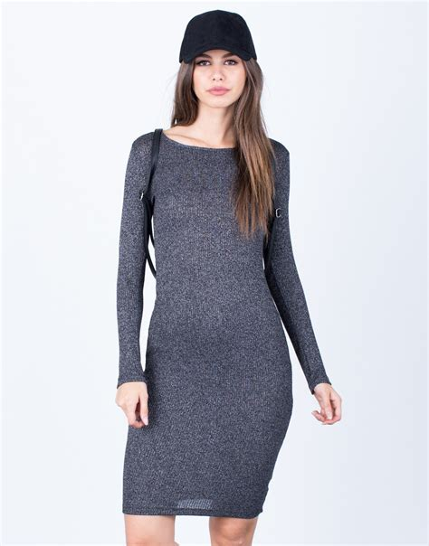 knit bodycon dress casual knit bodycon dress lbd dress black dress