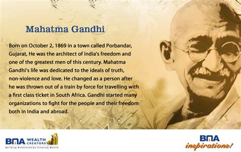 mahatma gandhi biography conclusion bma wealth creators official blog november 2012