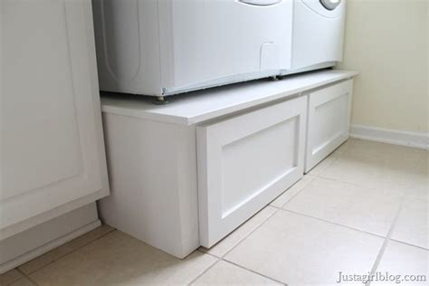 Build Washer Dryer Pedestal With Drawers washer and dryer drawers diy diy projects crafts