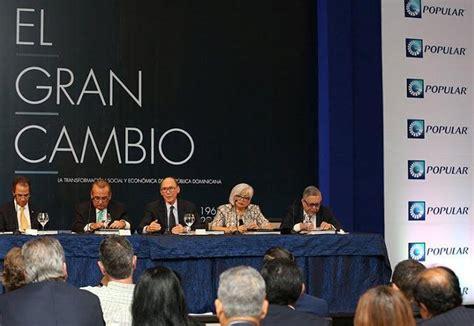 banco popular realiz 243 conversatorios sobre el libro el gran cambio