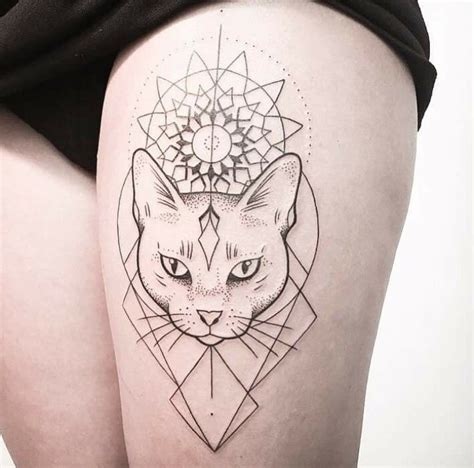 best geometric tattoo artists best 25 geometric cat ideas on