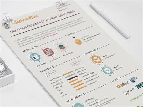 infographic resume template free psd flat infographic resume smashresume