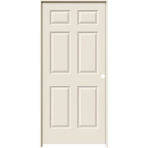 Jeld Wen 36 In X 80 In Colonist White Painted Textured | jeld wen 36 in x 80 in colonist primed left hand smooth