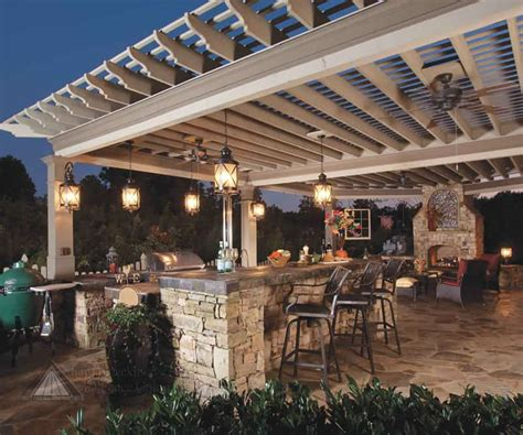 40 modern pergola designs and outdoor kitchen ideas