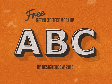 41 photoshop templates free text effect templates dezcorb free 3d retro text effect free psd file