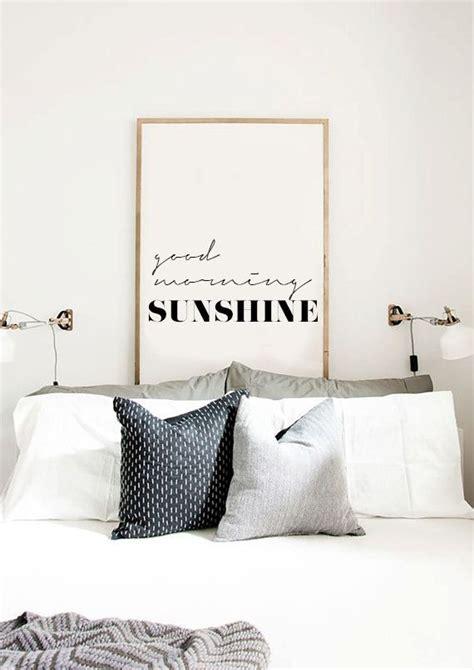 good morning sunshine inspirational poster printable