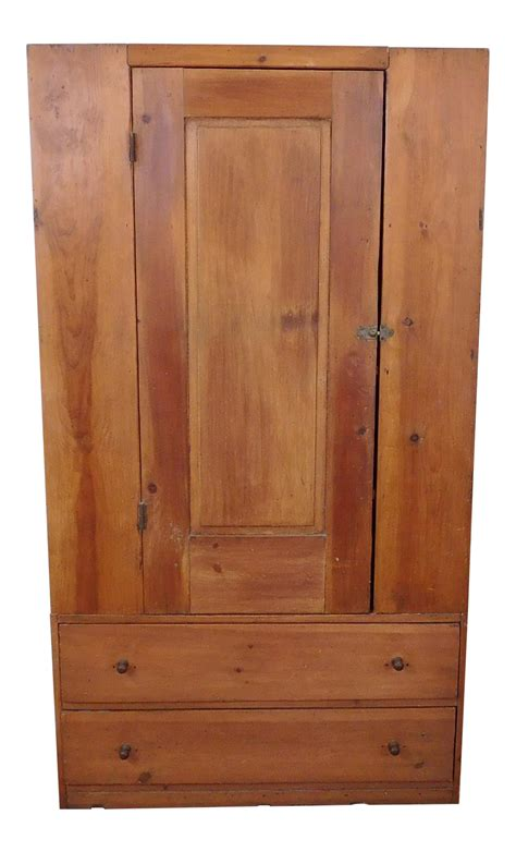 single door pantry cabinet primitive pine single door pantry cabinet chairish