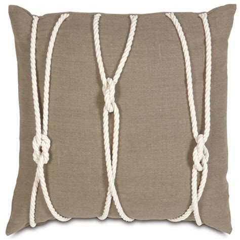 design house knot cushion nautical yacht knots pillow and artwork in decor brown