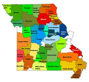 electric cooperatives map our co ops association of missouri electric cooperatives