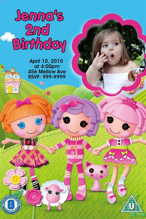 lalaloopsy birthday invitations party invitations ideas lalaloopsy birthday party invitations 24 hour service 4x6