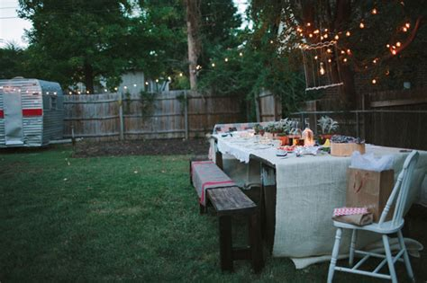 backyard dinner party ideas a surprise backyard proposal green wedding shoes