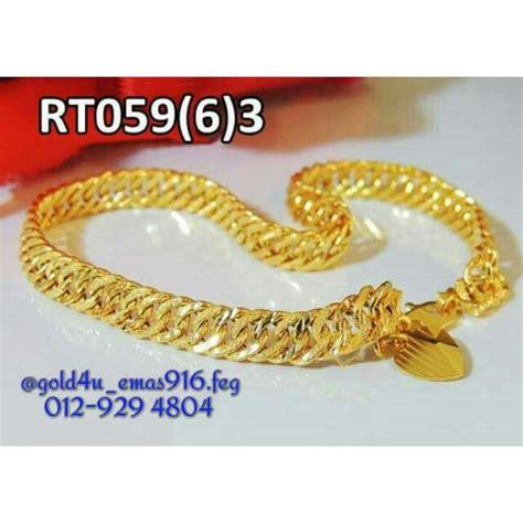 Gelang Dewasa Gold 2 rantai tangan emas 916 luxury on carousell