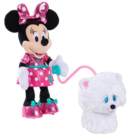 minnie mouse walk and play puppy go for a stroll with minnie s walk and play puppy the insider