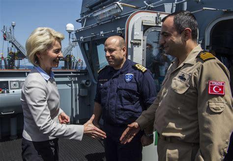 Mustafa Navy mustafa kumek in german defence minsiter aboard supply