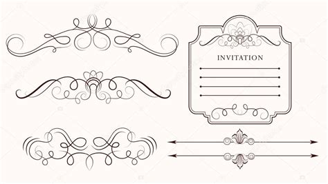 stock vector calligraphic design elements download vector set calligraphic design elements and page