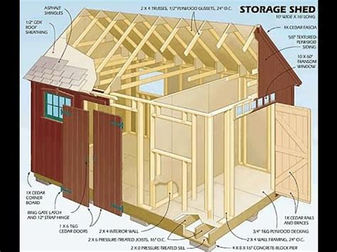 backyard storage shed plans diy review  storage shed plans hd youtube