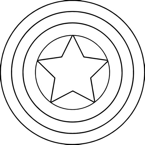 captain america shield template shield coloring pages barriee