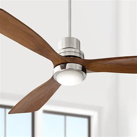 fan light 52 quot casa delta wing brushed nickel led ceiling fan