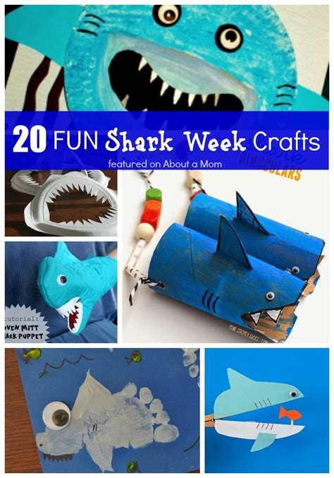 shark crafts for 20 shark week crafts for about a