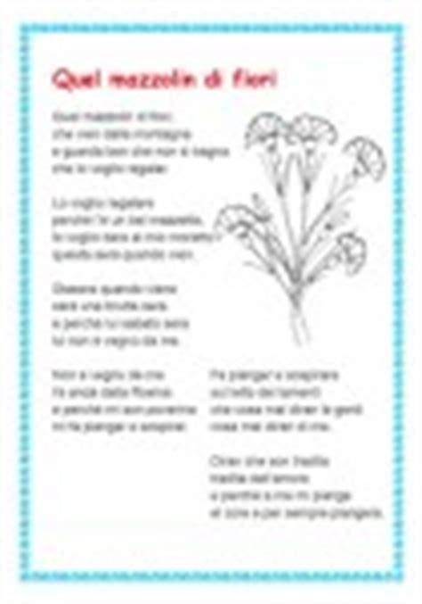 un mazzolin di fiori testo quel mazzolin di fiori cose per crescere