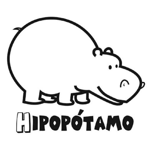 imagenes infantiles hipopotamo dibujo infantil de hipop 243 tamo