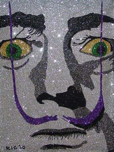 painting glitter glitter salvador dali painting by richard ian cohen