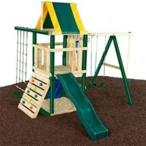 home depot swing n slide landmark playset children