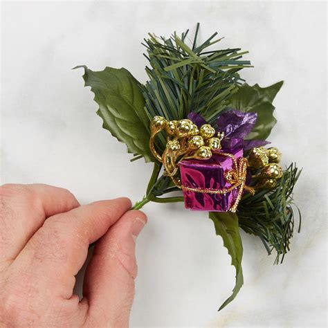 christmas floral picks and stems purple gift and artificial pine floral picks and stems floral supplies