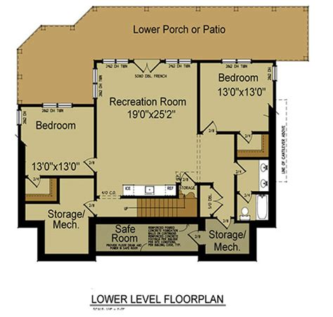 3 bedroom floor plans with basement mountain house with open floor plan by max fulbright designs