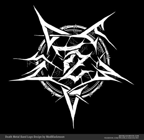Design A Metal Logo | modblackmoon death metal black metal band logo design
