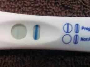 Blue dye pregnancy test evaporation line
