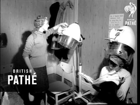 old fashinoned hairdressers and there salon potos ladies hairdressers 1964 youtube
