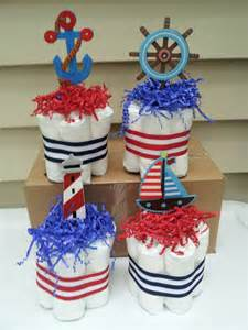 nautical theme baby shower centerpieces 4 nautical theme mini cakes baby shower by