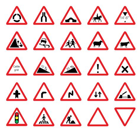 printable version of highway code road signs vector graphics
