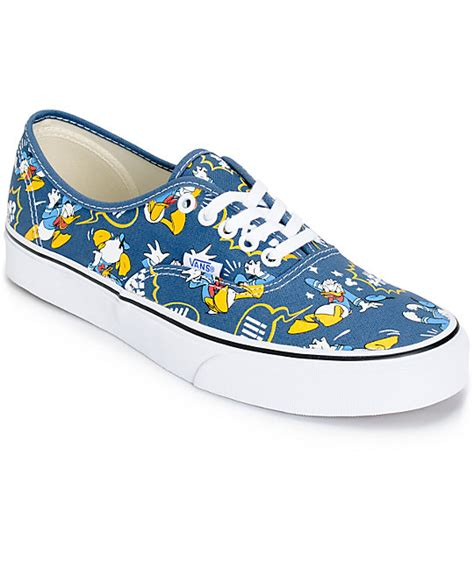 Vans Disney disney x vans authentic donald duck skate shoes mens at